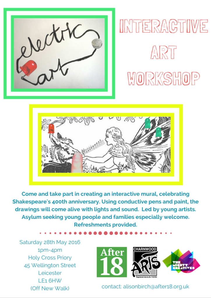 Shakespeare 400 interactive art workshop event